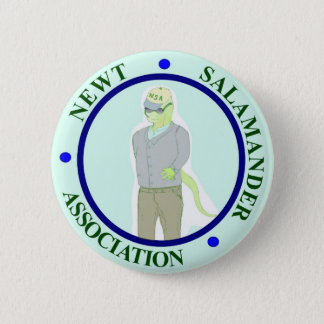 Newt Salamander Association 6 Cm Round Badge