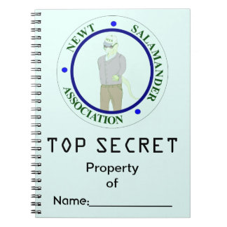 Newt Salamander Association Top Secret Notebook