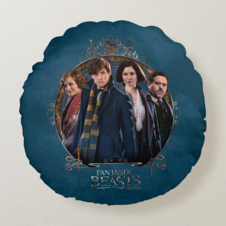 NEWT SCAMANDER™ and Company Art Nouveau Frame Round Cushion