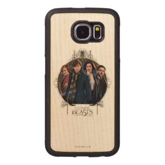 NEWT SCAMANDER™ and Company Art Nouveau Frame Wood Phone Case