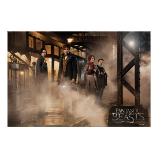 Newt Scamander & Co. At The Train Station Poster