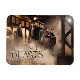 Newt Scamander & Co. At The Train Station Rectangular Photo Magnet