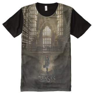 NEWT SCAMANDER™ in M.A.C.U.S.A. Headquarters All-Over Print T-Shirt