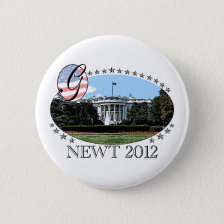 Newt White House 2012 6 Cm Round Badge