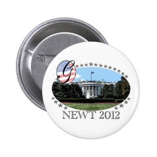 Newt White House 2012 6 Cm Round Badge
