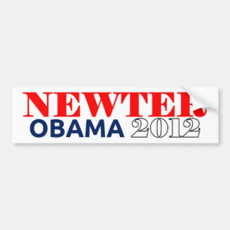 Newter Obama 2012 Dark Blue Bumper Sticker