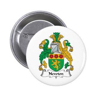 Newton Family Crest 6 Cm Round Badge