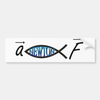 Newton FIsh Bumper Sticker