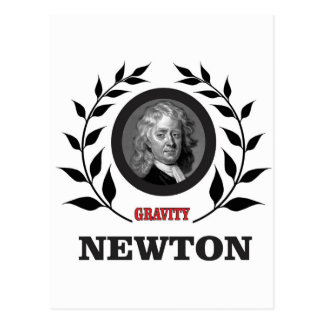 newton gravity postcard