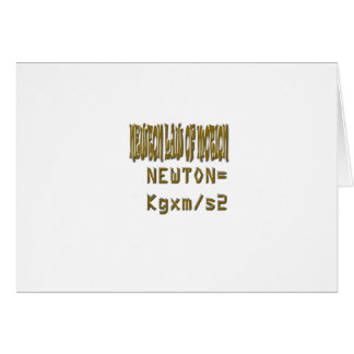 Newton law  of motion greeting card