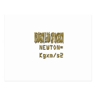 Newton law  of motion post cards