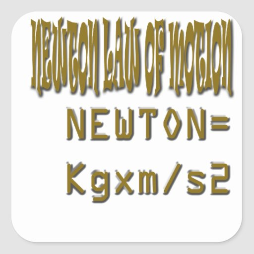 Newton law  of motion square stickers
