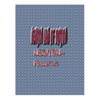 Newton Law of Motion Sweet Pattern Post Card