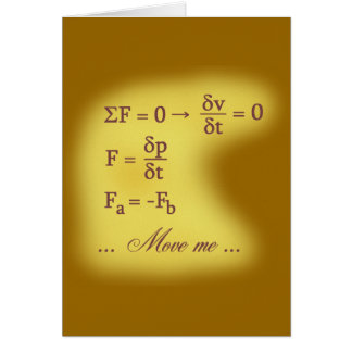Newton Laws of Motion Greeting Card