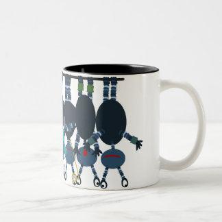 Newton's Cradle of Aliens Two-Tone Coffee Mug