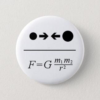 Newton's Law Of Gravitation 6 Cm Round Badge