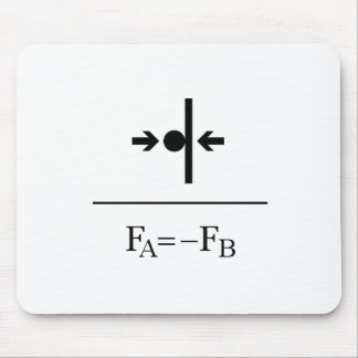 Newton's Third Law Mouse Pad