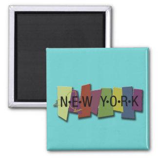 newyork block square magnet