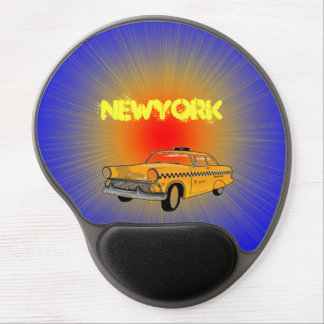 newyork cab mouse pad by highsaltire gel mouse mats