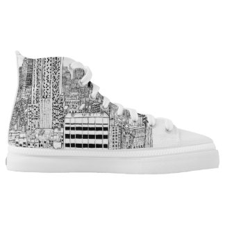 NewYork city on shoes. Printed Shoes