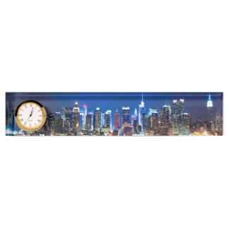 newyork desk clock by highsaltire desk name plates