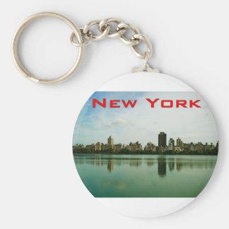 NewYork Basic Round Button Key Ring