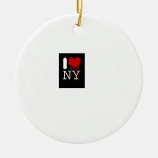 newyork.. round ceramic decoration