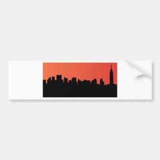newyork skyline comic style bumper sticker
