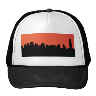 newyork skyline comic style mesh hat