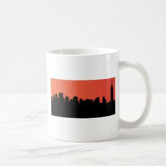 newyork skyline comic style coffee mug