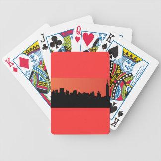newyork skyline comic style poker deck