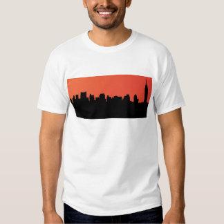 newyork skyline comic style t-shirt