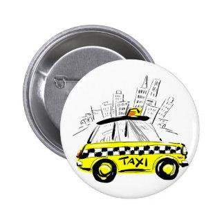 newyork taxi 6 cm round badge