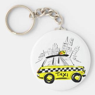 newyork taxi basic round button key ring