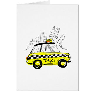 newyork taxi greeting cards