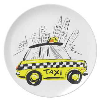 newyork taxi party plate