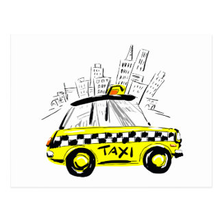 newyork taxi postcard
