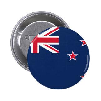 newzealand flag 6 cm round badge