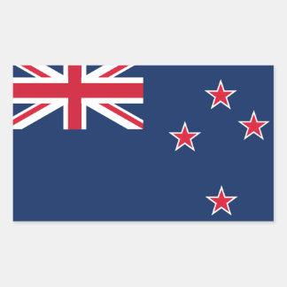 newzealand flag rectangular sticker