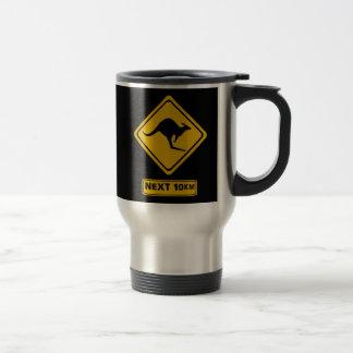 next 10 km kangaroos stainless steel travel mug