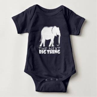 Next Big Thing Elephant Silhouette Cool Funny Baby Bodysuit