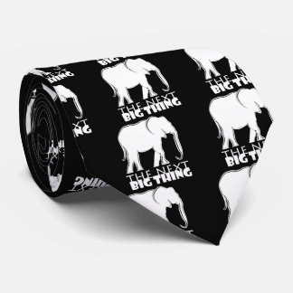 Next Big Thing Elephant Silhouette Cool Funny Tie