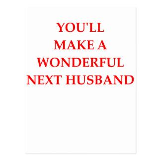 next husband postcard