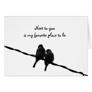 Next To You-My Favorite Place Valentine's Day Greeting Card