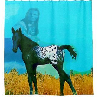 Nez Perce Horse Native American Shower Curtain