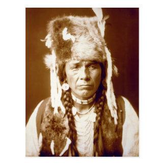 Nez Percé with furcap Postcard