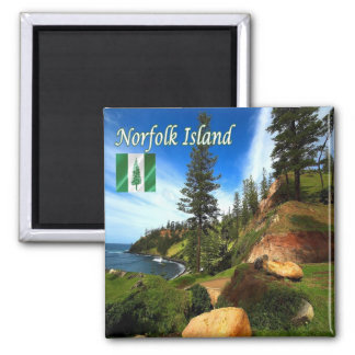 NF - Norfolk Island - Panorama Square Magnet