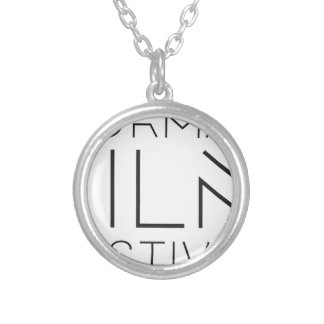 NFF-LOGO SILVER PLATED NECKLACE