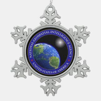 NGA SNOWFLAKE PEWTER CHRISTMAS ORNAMENT