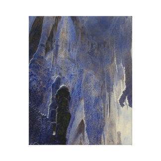 Ngarua caves image 4 stretched canvas print